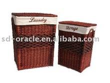 Home organizing storage willow laundry basket,laundry hamper
