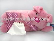 plush tissue holder pig toy Model:BG15