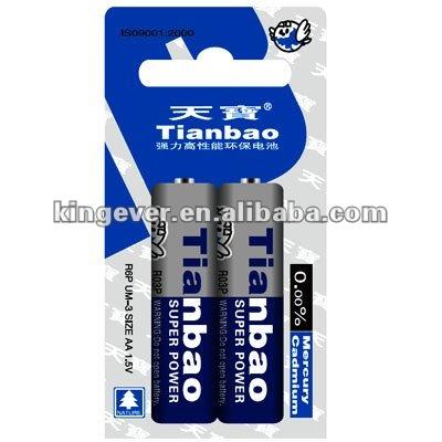 Zinc manganese battery UM3 R6P AA battery