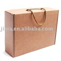 Eco-friendly plain brown kraft paper bag
