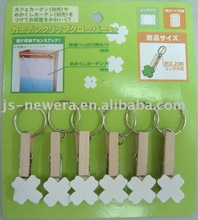 small craft Wood Cloth Peg with iron ring factory
