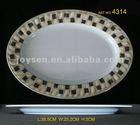 "14"" melamine oval soup plate"