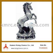 Pewter unicorn chess arts