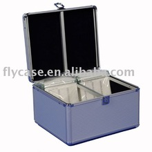 2015 new design Taiwan style Aluminum CD case with locks and 600 CDbags with art work