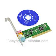 MIDI 3D Audio PCI 4CH Sound Card With CD Driver