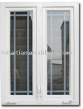 PVC swing out manual opener windows with tempered glass