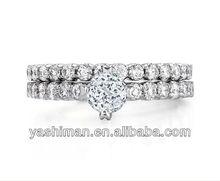 Crown Eternal Diamond Wedding Ring Set
