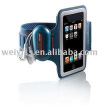 New pu leather custom mobile phone armband case
