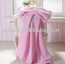 solid coral Fleece Blanket for home