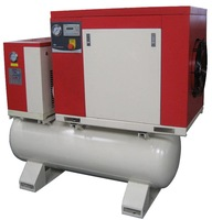 10hp, rotary screw compressor with dryer ,220L tank/ CE