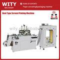 Tipo carretel sreen seda máquina de impressão( rolo a rolo de impressão da tela)