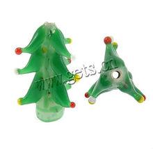 Christmas tree shape lampwork glass Christmas beads