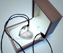 Heart Shape Jewel USB Flash Memory with sling