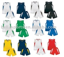 Double sides basketball uniform polyester