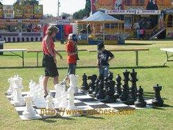 Patio chess set