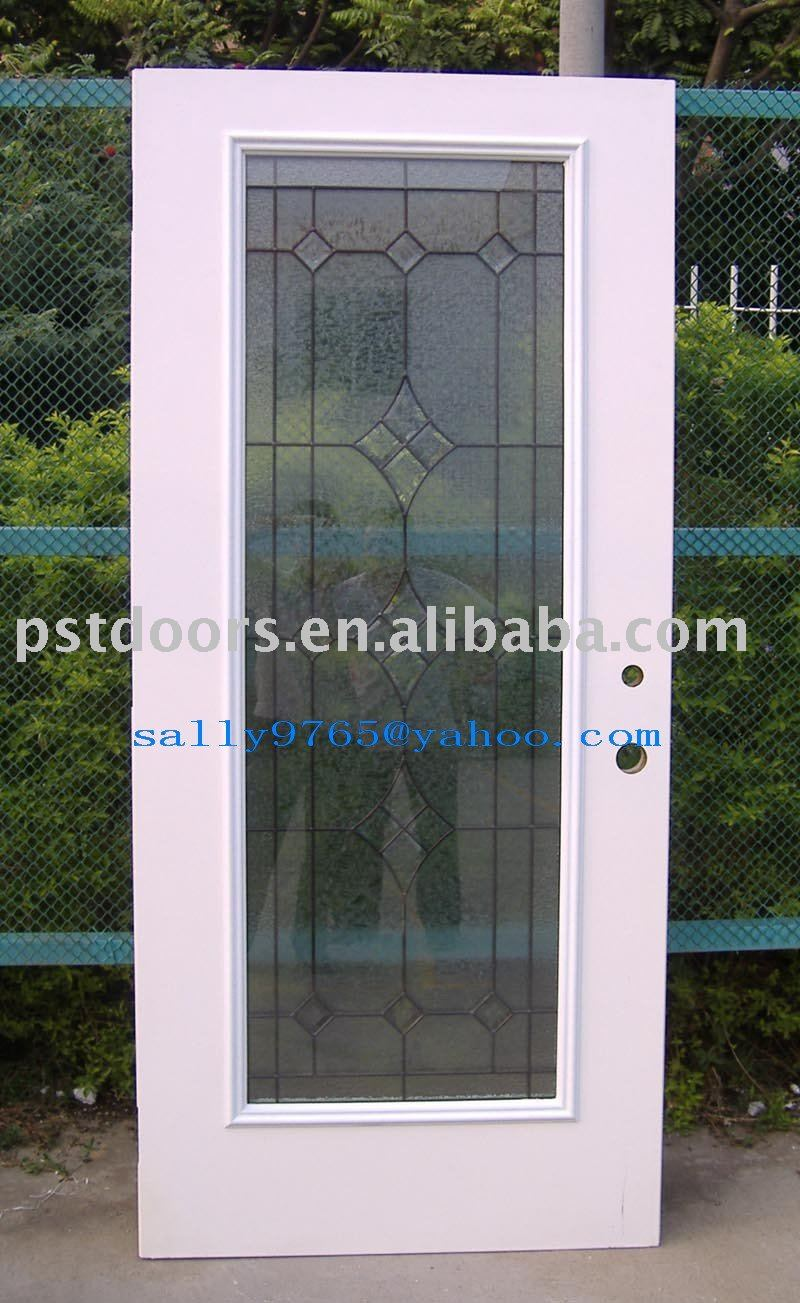 Exterior Glass Door Metal Door Panel Full Lite Glass