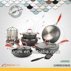 18 pcs aluminum non-stick cookware set
