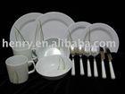 melamine kitchenware 24pc dinner set