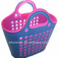 compras de supermercado de plástico macio cor cesto de roupa suja