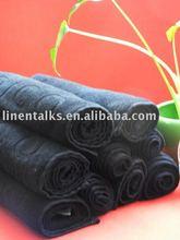 professional salon towels with jacquard logo