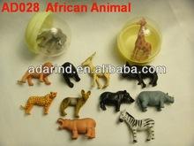 Plastic African Animal Figurine Toys