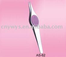 stainless steel pointed eyebrow tweezer