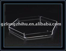 hexagonal acrylic tray