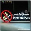 led de fumar sinais janela