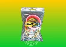 Food grade Handle pe plastic bag with ziplock bag household use