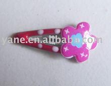 Baby girls colorful plastic hair bun clip