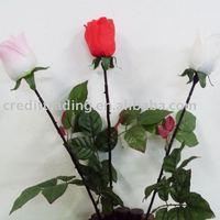 Plastic rose flower stem