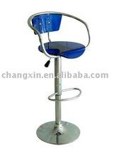 acrylic blue bar stool