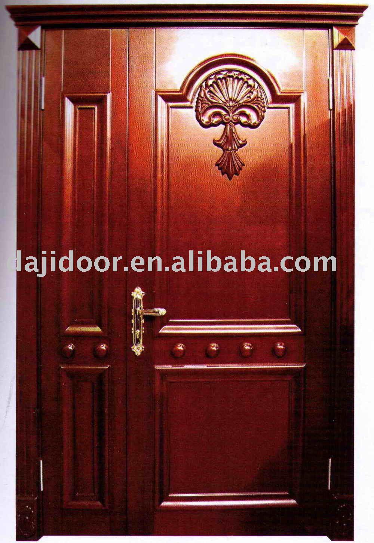 De lujo casa de madera s lida puerta principal dj s8701mso - Modelo de puertas de madera ...