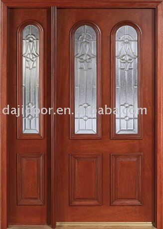 Solid wood door french door entrance door exterior door for Solid french doors exterior