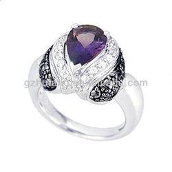 Silver Gemstone Jewelry:ring pendant & earring