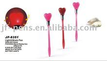Crafts light music pen for lover