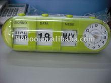 Flip calendar clock & table alarm clock