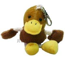duck keychain plush toy
