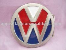 New arrival hiphop western style famous car logo belt buckle