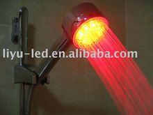 Chuveiro de mão / temperatura do chuveiro detectável LED / chuvas chuveiro