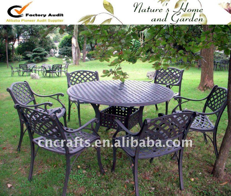 De aluminio fundido de patio de juegos patio muebles de for Muebles para jardin en aluminio