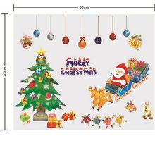 Santa Claus window sticker Christmas wall sticker suit