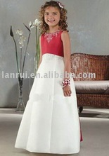 White Dress  Girls on Red And White Wedding Dress Flower Girl Promotion  Buy Promotional Red