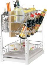 Metal cabinet drawer basket
