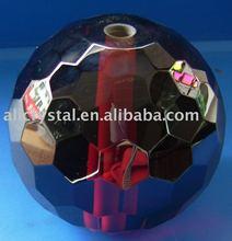deep red facet crystal spheres
