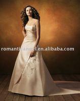 champagne plus size wedding dress WD-468