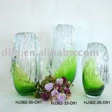 Ice Lines Murano Glass Vases