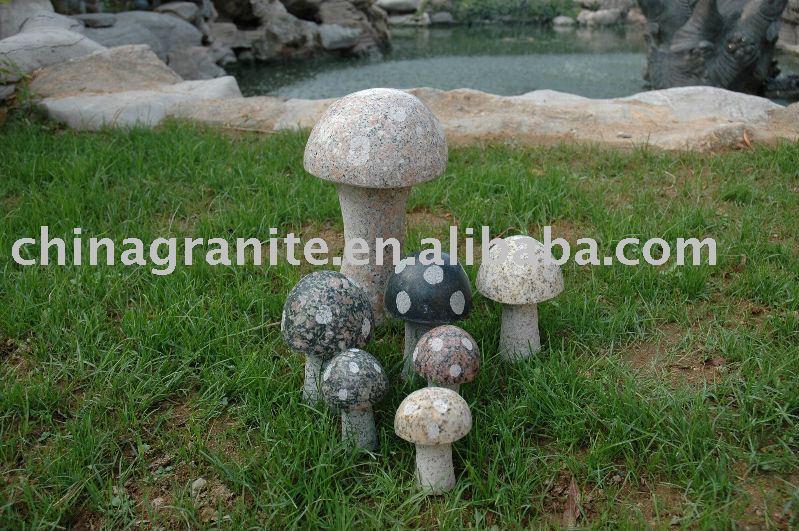 D coration de champignon de jardin artisanat de sculpture for Drain francais interieur vs exterieur