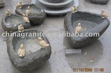stone birdbath carving