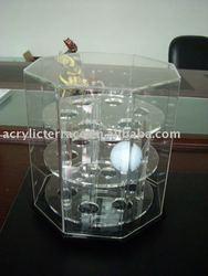 Acrylic rotating 18 golf ball display case